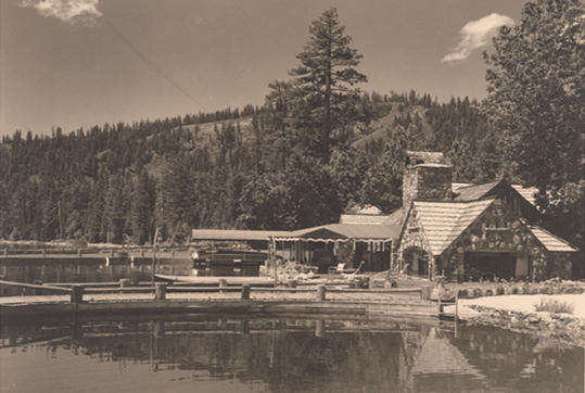 View from the lake of what was called Harbor House