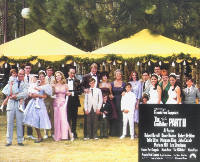 Photo of cast members; Godfather II