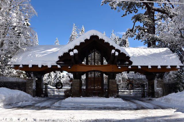 Snow-covered main gates, December 2018
